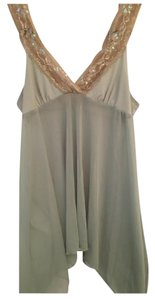 Anthropologie Flowy Boho Glitter Sequin Lace Trim Top Green