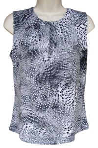 Calvin Klein Keyhole Sleeveless Print Summer Top Multicolor