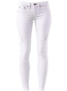 Rag & Bone Leather Mesh Skinny Skinny Jeans