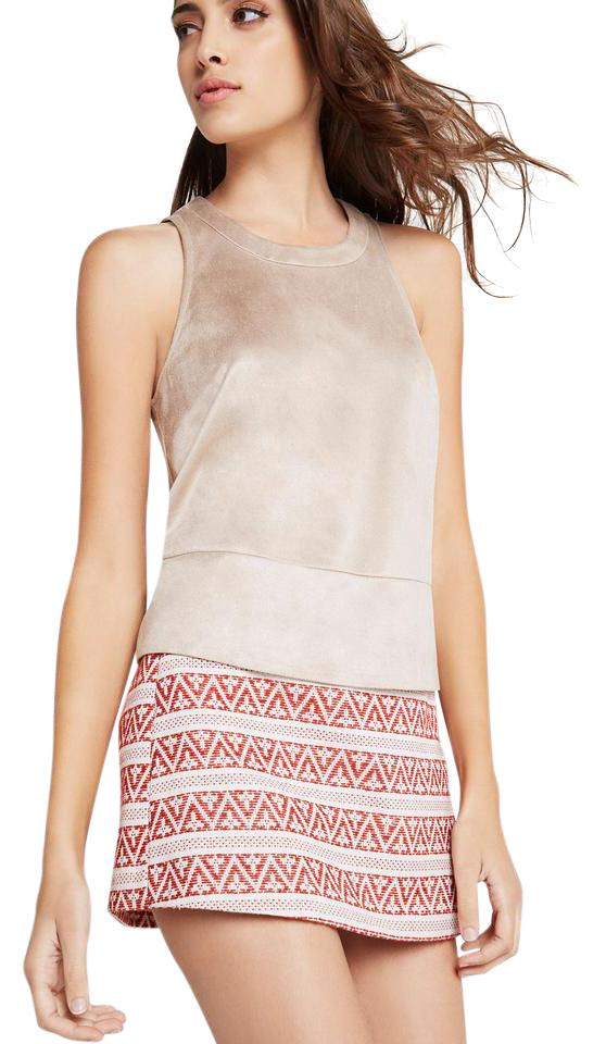 940875c388c772 BCBGeneration Faux Suede Cropped Sleeveless Easy Fit Top Sand Image 0 ...