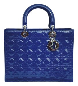 Dior Patent Tote in Blue
