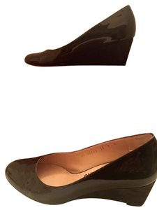 Salvatore Ferragamo Ferragamo Size 9 Brown Patent Chocolate brown Wedges