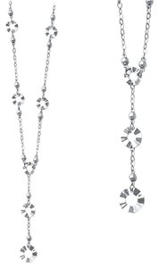 Top Gold & Diamond Jewelry 14K White Gold Y Necklace - 17+1