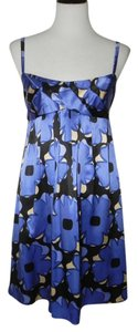 Cynthia Steffe Silk Empire Waist Floral Party Strappy Dress