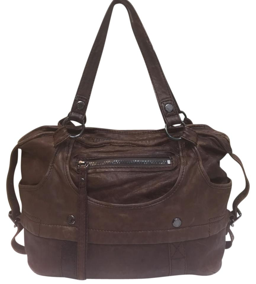 Andrew Marc New York By Satchel Tote Brown Leather Shoulder Bag