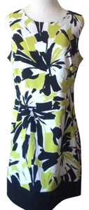 Ronni Nicole short dress lime green black white on Tradesy