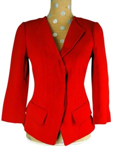 Andrew Gn Jacket 3/4 Sleeves Red Blazer