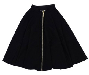 Philipp Plein Front Zip Midi Skirt Black