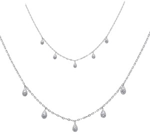 Top Gold & Diamond Jewelry 14K White Gold Necklace - 17+1
