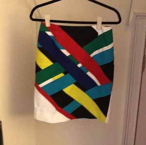Carlisle Skirt Vibrant colors of green, red, blue black and white