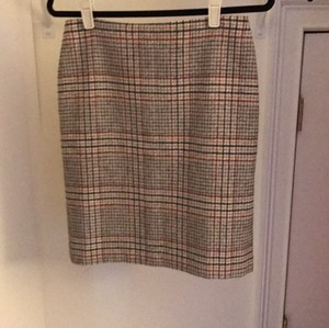 Talbots Skirt red, black and camel