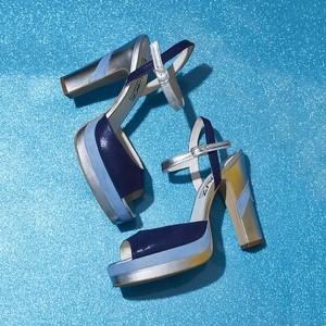 Nasty Gal Terry De Havilland Retro Blue Platforms