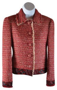 Blumarine Made In Italy Multicolor Multi-Red Blazer