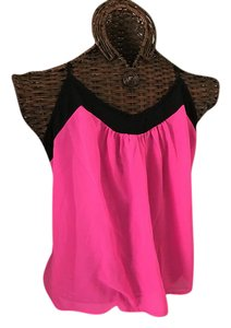 Charming Charlie Top Hot pink and blac