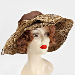 kentucky derby hat Formal Kentucky Derby Dressy leopard bow cotton hat