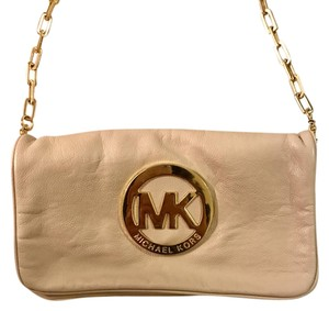 Michael Kors Leather Gold Chain Strap Leather Shoulder Bag