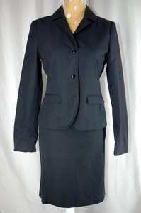 Miu Miu Black Cotton 2-Pc Skirt Suit