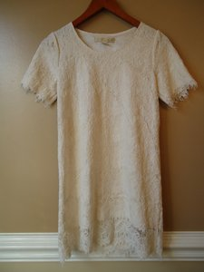 Nordstrom Lace Ivory Short Sleeve Shift Dress