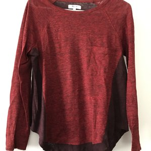 Madewell T Shirt red colorblock