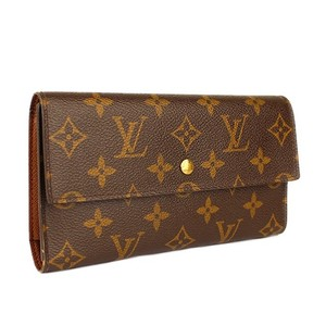 Louis Vuitton Auth LV Monogram Trifold Wallet
