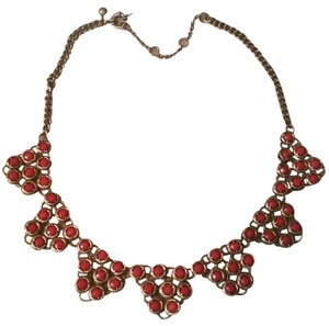 J.Crew Rusty Orange beaded Necklace