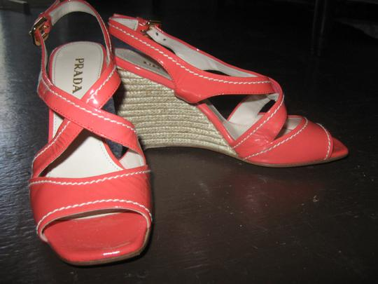 Prada salmon Wedges