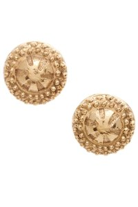 Chanel Chanel Vintage Gold-Tone Sand Dollar Clip-On Earrings