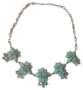 J.Crew J Crew gold Mint Floral clusters necklace