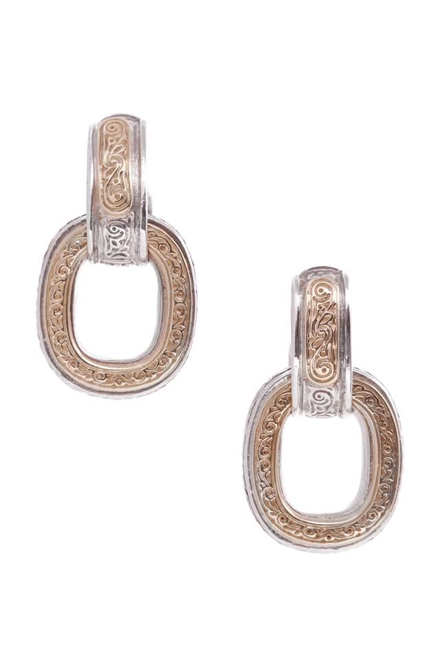 Konstantino Sterling Silver 18k Gold Daphne Drop Earrings