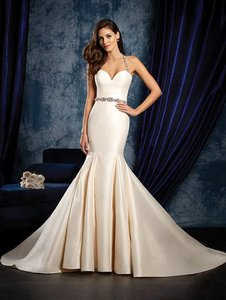 Alfred Angelo 965 Dupioni Fit And Flare Wedding Dress