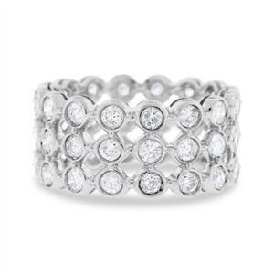 Other 2.50 Ct. Natural Diamond Three Row Bezel Set Eternity Band In Solid 14