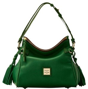 Dooney & Bourke & Leather Samba Satchel in EMERALD GREEN
