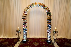 Beautifully Crafted Arch Of Books
