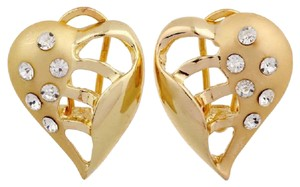 Other New Gold Tone Large Heart Stud Earrings J3212