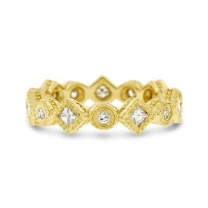 Other 0.42 Ct. Natural Diamond Filigree Design Circle Box Eternity Band In