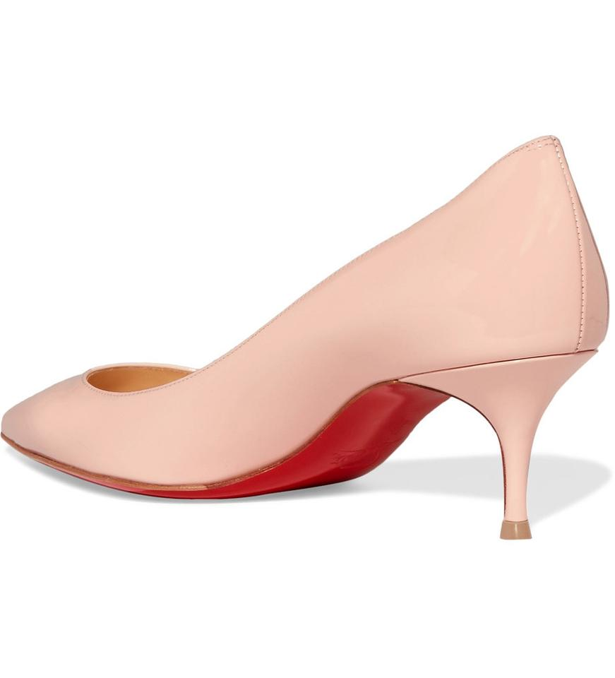 detailed look a6ebb b5d6d Christian Louboutin Beige New Pigalle Follies 55mm Kitten Pumps Size US 7  Regular (M, B) 15% off retail