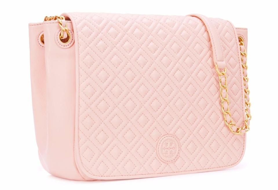 412a0eac9573 Tory Burch Marion Small Flap Pink Convertible Crossbody Pale Apricot ...