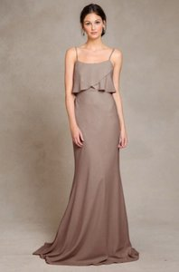 0d23c9be438 Jenny Yoo Truffle Crepe De Chine Blake Unworn Un-altered with Tags Feminine  Bridesmaid