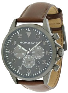 Michael Kors Michael Kors Gage Chronograph Leather Mens Watch MK8536