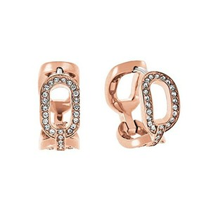 Michael Kors Michael Kors MKJ4870 Rose Gold Tone Cityscape Pave Crystal Earrings