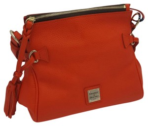 Dooney & Bourke Leather Samba & Satchel in TANGERINE