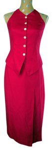 Red Maxi Dress by Ellen Tracy Pencil Skirt