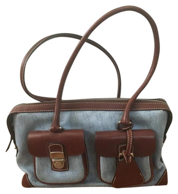 Item - Handbag Blue Canvas Shoulder Bag