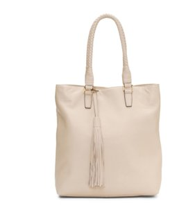Margot Leather Tassel Braided Pink Tote in Blush