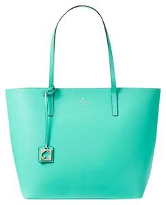 Kate Spade Leather New With Tags Tote in Blue Aqua
