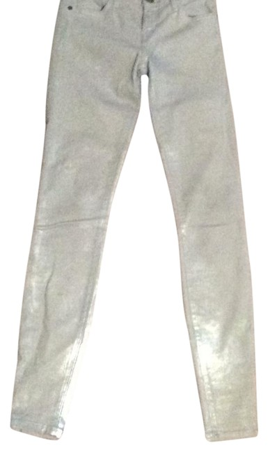 Item - Grey Light Wash 410798 Skinny Jeans Size 25 (2, XS)