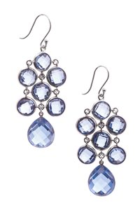 Other Elizabeth Showers Sterling Silver & Sapphire Chandelier Earrings