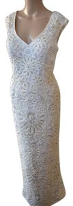 Sue Wong Embroidered Sequin Beaded Sheath Illusion Dress