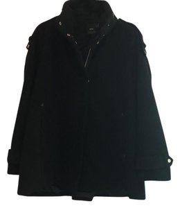 ASOS Black Felt Swing Jacket