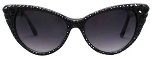 Other Glam Rhinestone Crystal Accent Cat Eyes SunGlasses